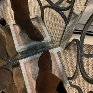 Genuine Leather cowboy ankle boots.